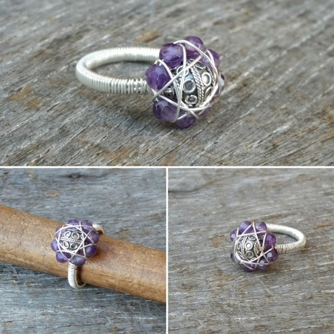 Amethyst Flower Ring Image