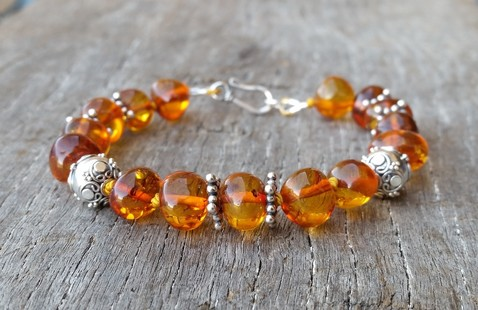 Cognac Amber & Sterling Silver Image