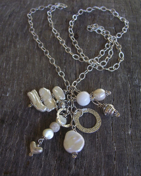 Selkie Chain Bunch in Freshwater Pearl Image