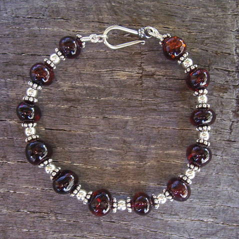Cherry Amber & Sterling Silver Bracelet Image