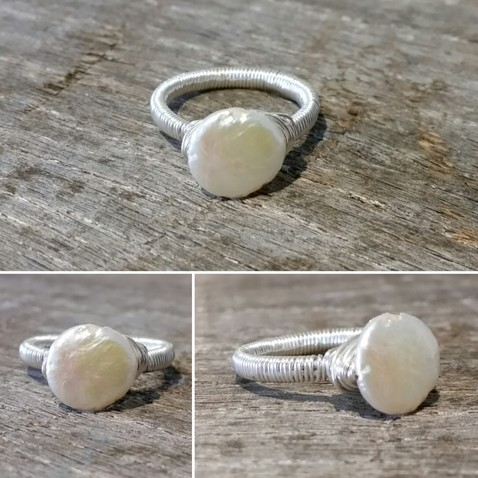 Coin Pearl Ring Image