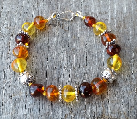Multicolour Amber & Sterling Silver Image