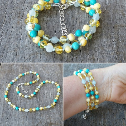 Wrap Bracelet Blue Skies & Sunshine Image