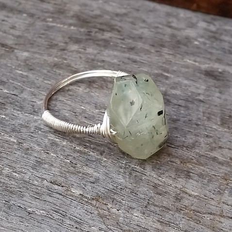 Prehnite Rock Ring Image