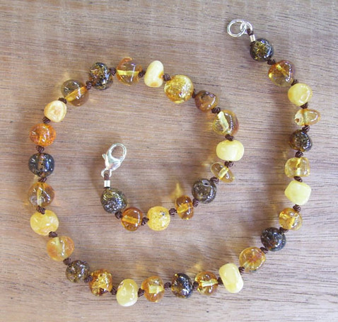 Toffee - Baltic Amber Teething Necklace. Image