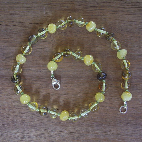Wattle - Baltic Amber Teething Necklace. Image