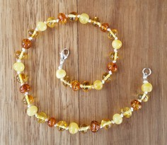 Beach - Baltic Amber Teething Necklace. Image