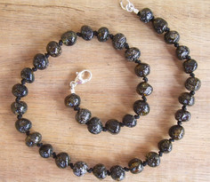 Charcoal-Baltic Amber Teething Necklace Image