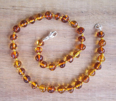 Cognac - Baltic Amber Teething Necklace. Image