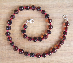 Cherry - Baltic Amber Teething Necklace. Image