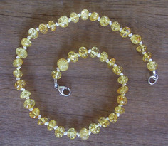 Champagne Sparkle - Baltic Amber Teething Necklace. Image