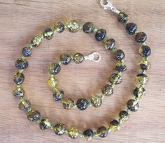 Green-Baltic Amber Teething Necklace Image