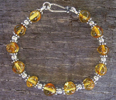 Honey Amber & Sterling Silver Bracelet Image