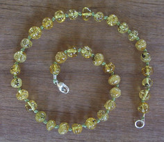 Lime - Baltic Amber Teething Necklace. Image