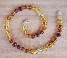 Light Rainbow - Baltic Amber Teething Necklace Image