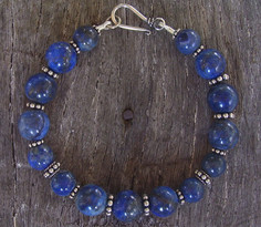 Lapis Lazuli and Sterling Silver Bracelet Image
