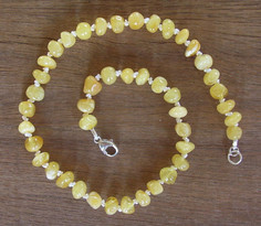 Milky - Baltic Amber Teething Necklace. Image