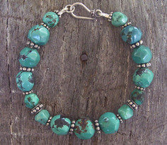 Turquoise and Sterling Silver Bracelet Image