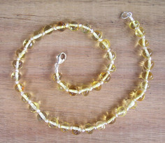 Champagne - Baltic Amber Teething Necklace. Image